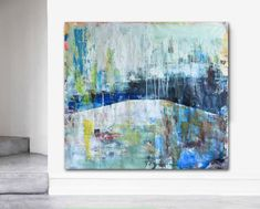 """Items similar to Large Art Huge Painting Original Abstract Contemporary Trees Wall Decor . """"Angel In the Woods"""", Free US shipping on Etsy Texture Painting On Canvas, Oil Painting Abstract, Canvas Art, Textured Painting, Paintings For Sale, Original Paintings, Tree Wall Decor, Simple Art, Large Art"""