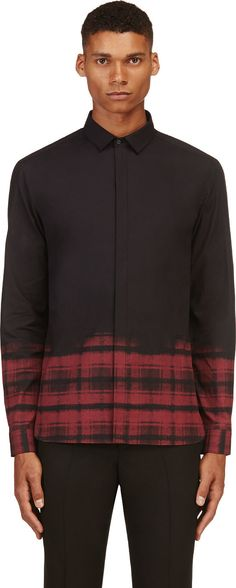 Neil Barrett - Black Plaid Accent Shirt | SSENSE