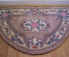 Half Moon Aubusson Chinese Rugs In Fawn Beige Wool Handmade Traditonal 67x127cm Aubusson Rugs, Chinese, Wool Rug, Decorative Boxes, Home Decor, First Aid Only, Homemade Home Decor, Decoration Home, Decorative Storage Boxes