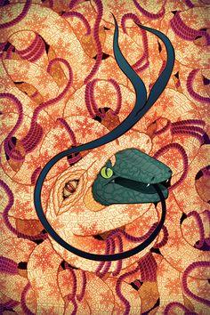 Snake Skin | Winter Postcard Series | © 2011 Jessica Fortner. All rights reserved.