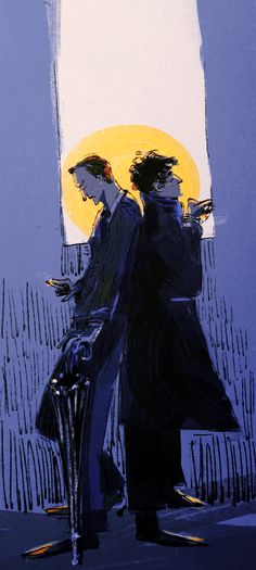 """sheeplocked: """" happy new year from some moody holmes bros! (really hoping this season we'll discover the source of their mutual prickliness) """""""