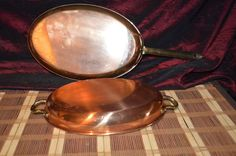 Two Douro Copper Oval w/Tin lining & brass handles  #DouroBenjaminMedwin