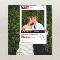Birthday or Wedding Photo Prop Idea. YouTube Photo Prop. Prom Photo Prop. Idea for Creative Prom Photo. Fun Photo Prop for Prom. Prom 2014. Graduation Party Idea. Wedding Photo Prop. #prom2014 #prom #photoprop #wedding #bridal #weddingphotoprop #2014 #graduation #grad