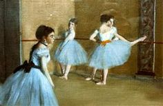 This painting of ballet dancers by Edgar Degas was painted in 1872 and is in the Musee d'Orsay in Paris. Edgar Degas, Degas Ballerina, Degas Dancers, Ballet Dancers, Ballerinas, Mary Cassatt, Pierre Auguste Renoir, Ballerine Degas, Degas Paintings