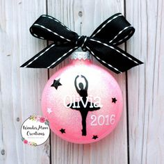 Ballerina Dance Ornament Personalized; Ballet Teacher Ornament; Ballet Dancer Christmas Ornament; Ballet Recital Christmas Ornament - #teacherornaments - Ballerina Dance Ornament Personalized; Ballet Teacher Ornament; Ballet Dancer Christmas Ornament; Ballet Recital Christmas Ornament... 30 Diy Christmas Gifts, Christmas Presents For Teachers, Pink Christmas Ornaments, Christmas Buttons, Personalized Christmas Ornaments, Holiday, Sheet Music Ornaments, Vinyl Ornaments, Teacher Ornaments