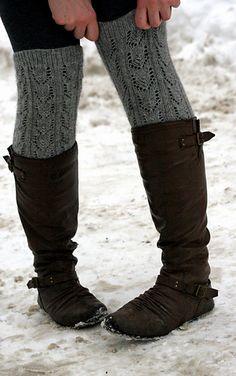 alpaca leg warmers - free pattern