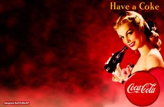 Wallpaper pin-up: Have a Coke | Red Vintage