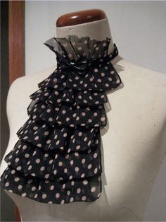 turn an old scarf into a jabot...LOVE LOVE LOVE- & I have a scarf just like this!!