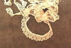 Vintage Light Brown Lace Ruffle Trim 1 1/8 inches   1 yard