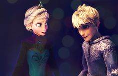 elsa and jack frost - Google Search. WOW! This pin has gotten really popular.
