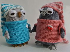 Crochet sleepy owls free pattern