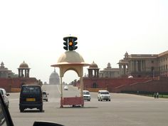 One of its kind traffic light post, in New Delhi!