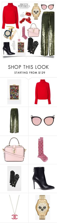 """Sequined Cropped Trousers..**"" by yagna on Polyvore featuring Alice + Olivia, Le Kasha, P.A.R.O.S.H., Stephane + Christian, Dolce&Gabbana, Gucci, Club Monaco and Alexander Wang"