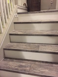 Wood Look Tiled Stair Case