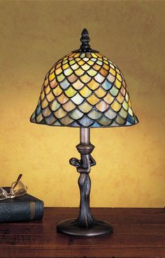 Meyda Tiffany 30315 Stained Glass / Tiffany Accent Table Lamp from the Tiffany F Tiffany Glass Lamps Table Lamps