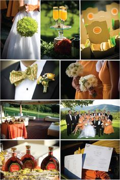 Wedding Color Palette of Orange, Green and Pewter Sets The Tone Of The Day | Style Me Pretty