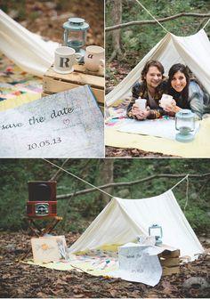 Rugged Camping Engagement Shoot