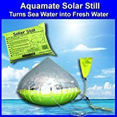 Imported from England, the Aquamate Solar Still will produce to liters of water per day and has been used for over forty years by military and civilian services around the world. The Aquamate Solar Still represents the leading in Survival Shelter, Survival Food, Wilderness Survival, Camping Survival, Survival Prepping, Survival Skills, Survival Stuff, Winter Survival, Homestead Survival