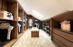 Loft modern walk in wardrobe Cinnamon - Bespoke Furniture | fitted wardrobes | walk in wardrobe