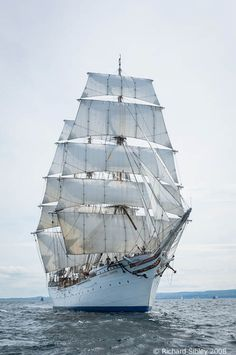 "Norwegian ""Statsraad Lemkuhl"". Liverpool Tall Ships Race 2008"