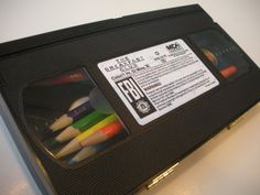 Great way to upcycle The Breakfast Club  VHS into a  Pencil Box