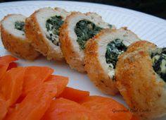 Gourmet Girl Cooks: Greek Style Spinach & Feta Stuffed Chicken (Spaniko-chicken)