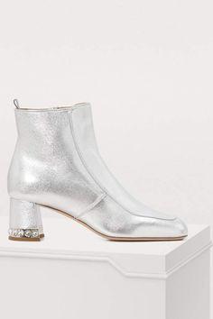 facc5d608749 Buy Miu Miu Crystal heel ankle boots online on 24 Sèvres.