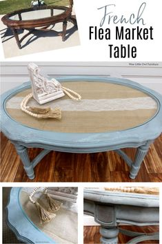 Learn this French-inspired shabby chic paint finish to help you make over your furniture to better fit your style. All the products, tip and techniques you need to get started are here. #paintedfurniture #dixiebellepaint #bestpaintonplanetearth Diy Furniture Projects, Paint Furniture, Furniture Makeover, Upcycled Furniture, French Furniture, Shabby Chic Furniture, Shabby Chic Decor, Market Table, Coffee Table Makeover