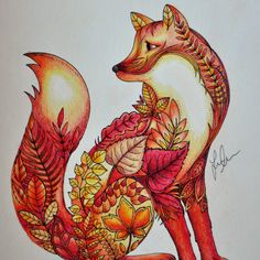 Take a peek at this great artwork on Johanna Basford's Colouring Gallery! Enchanted Forest Book, Enchanted Forest Coloring Book, Forest Coloring Pages, Coloring Book Art, Johanna Basford Coloring Book, Color Pencil Art, Colorful Drawings, Tribal Art, Animal Drawings