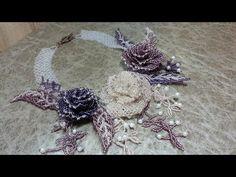 """Колье из бисера """"Царственные розы"""". Часть 1/Necklace of beads """"Regal Rose"""". Part 1 - YouTube"""