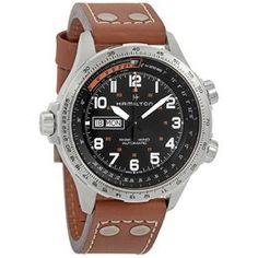 Hamilton Men's Khaki X Wind Automatic Chronograph Men's Watch H77616533 H77616533 - Watches, Hamilton - Jomashop Zeppelin Watch, Down Band, Casual Watches, Men's Watches, Best Watches For Men, Black Crystals, Vintage Watches, Stainless Steel Case, Hamilton