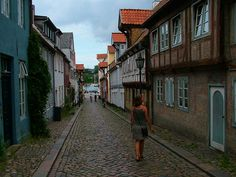 Germany, Flensburg - love these little Alleys.