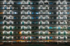 Nam Shan Estate at night, Shek Kip Mei, Hong Kong x-post /r/ChinaPics