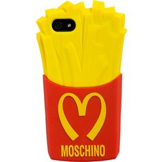 Moschino Fast Food Iphone 5 Case ($24) ❤ liked on Polyvore featuring accessories, tech accessories, phone cases, phones, cases, tech and moschino