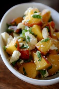 Love At First Bite....Eating for a healthier life: Peach and Feta Salsa