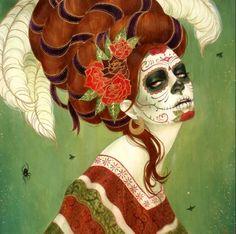 Inspiração: Caveira mexicana. | Overdose V.I.P | por Bárbara Thamíres