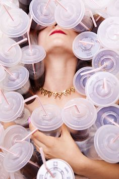 While these images promote Spanish jewelry designer, Glenda Lopez's new junk food inspired collection, it wasn't the actual jewelry but the photos that rea