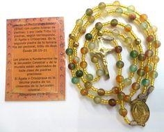 Rosario Acero y Piedras Preciosas. Cristo de san Benito