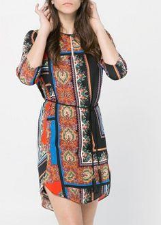 Kleid mit Paisley-Muster - Kleider - Damen - MANGO