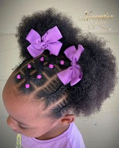 Easy Black Girl Hairstyles, Girls Natural Hairstyles, Natural Hairstyles For Kids, Kids Braided Hairstyles, Natural Hair Styles, Toddler Girls Hairstyles, Protective Hairstyles, Braids For Kids, Girls Braids