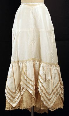 Petticoat, late 1890s, probably French, silk, The Metropolitan Museum of Art