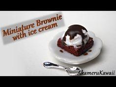 Miniature Brownie w. Ice cream - Polymer Clay Tutorial - YouTube