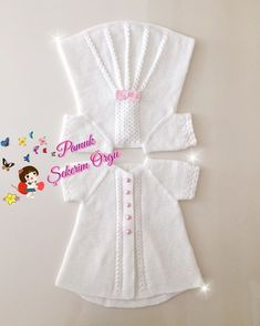 . 🎀Aklınıza geleni güzel şeyleri dua'ya dökün,yol olur,niyet olur,nasip olur,hallolur.Gelir seni bulur...(Hz.Mevlana)Gönlünüzdeki tüm… Baby Knitting Patterns, Baby Patterns, Filet Crochet, Knit Crochet, Crochet Bebe, Baby Vest, Fashion Sewing, Kids, Design