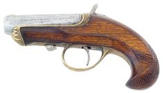 """.41 short r.f. caliber, single shot Derringer, 2 1/2"""" round barrel, with adapter to use cap and ball, about 4000 were produced in the 1860s"""