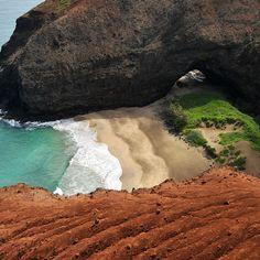 La costa de los acantilados afilados (Na Pali, Hawaii)