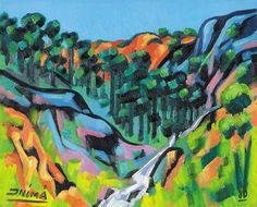 Paisagem do Espírito Santo, 1980 Inimá de Paula ( Brasil, 1918-1999) óleo sobre tela, 40 x 50 cm Coleção Particular