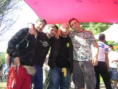 Same open air.group of artists + DJ....from Left: Marco Pulsar, Salvo Psychopunk, me and Paolo Sismic...