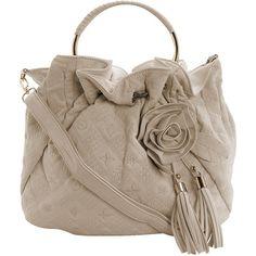 Beige flower embroidered bag ($55) ❤ liked on Polyvore featuring bags, handbags, shoulder bags, purses, bolsos, women, long strap shoulder bag, brown shoulder bag, brown purse and beige purse
