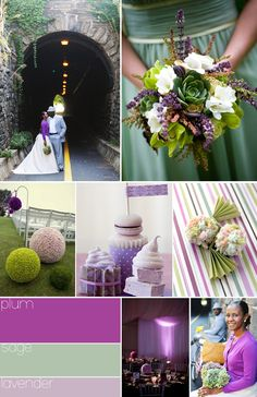 Plum-themed wedding with hints of sage and lavender #plumwedding #plumandsage | via Weddings on the French Riviera