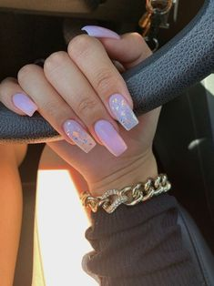 In seek out some nail designs and ideas for your nails? Here's our set of must-try coffin acrylic nails for trendy women. Summer Acrylic Nails, Best Acrylic Nails, Acrylic Nail Designs, Summer Nails, Long Square Acrylic Nails, Pink Nail Designs, Long Square Nails, Blush Nails, Glitter Nails